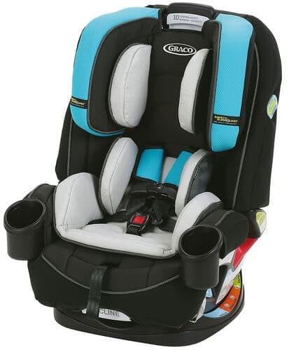 כסא בטיחות משולב בוסטר גרקו פוראבר שחור-תכלת