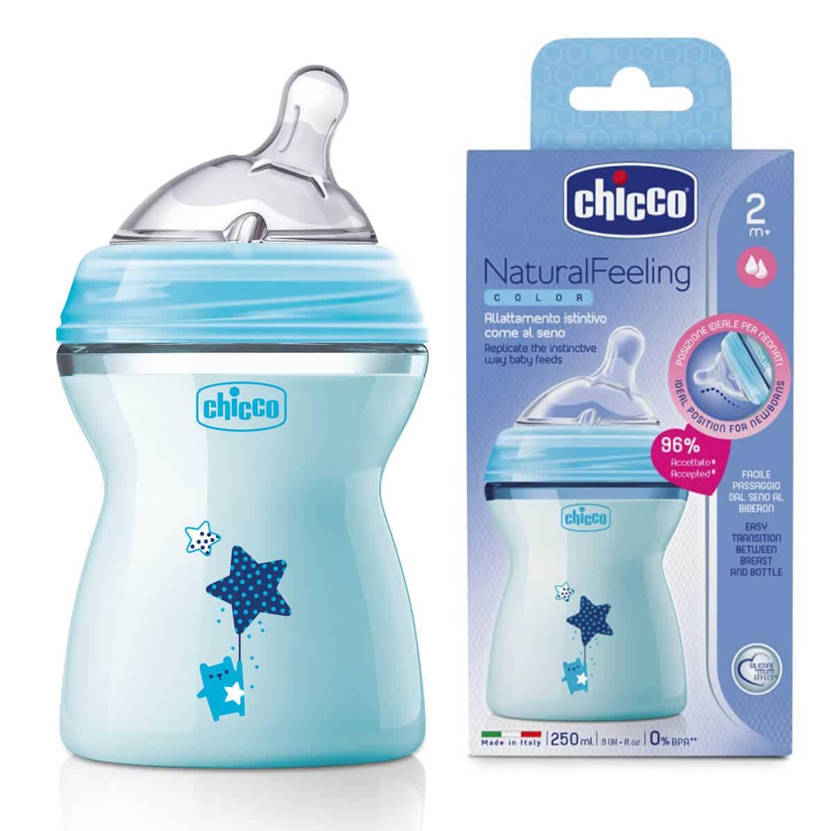 """בקבוק Natural feeling כחול (250 מ""""ל) צ'יקו"""