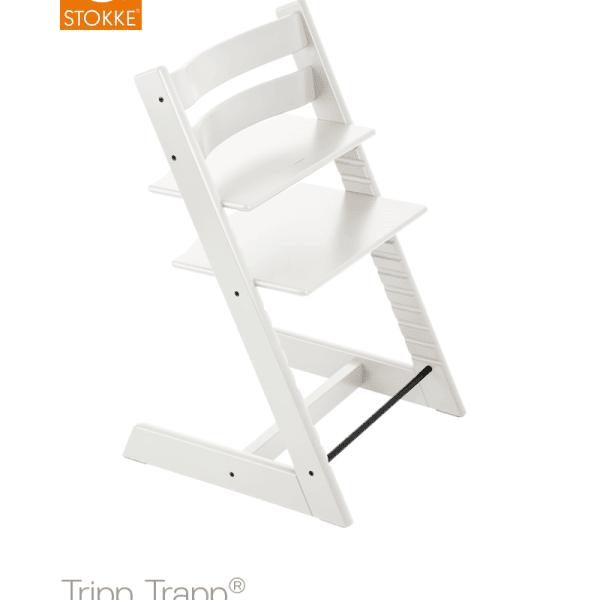 כיסא אוכל לבן ®Tripp Trapp סטוקי