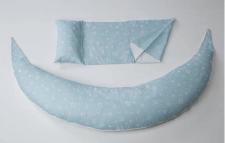 כרית היריון והנקה אפור כוכבים Nuvita איטליה