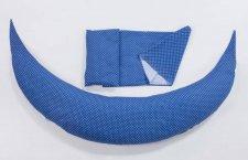 כרית הנקה והריון בצבע כחול מנוקד nuvita איטליה