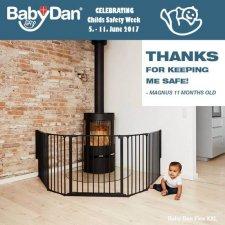 מתחמון- שער בטיחות מודולארי שחור BABY DAN