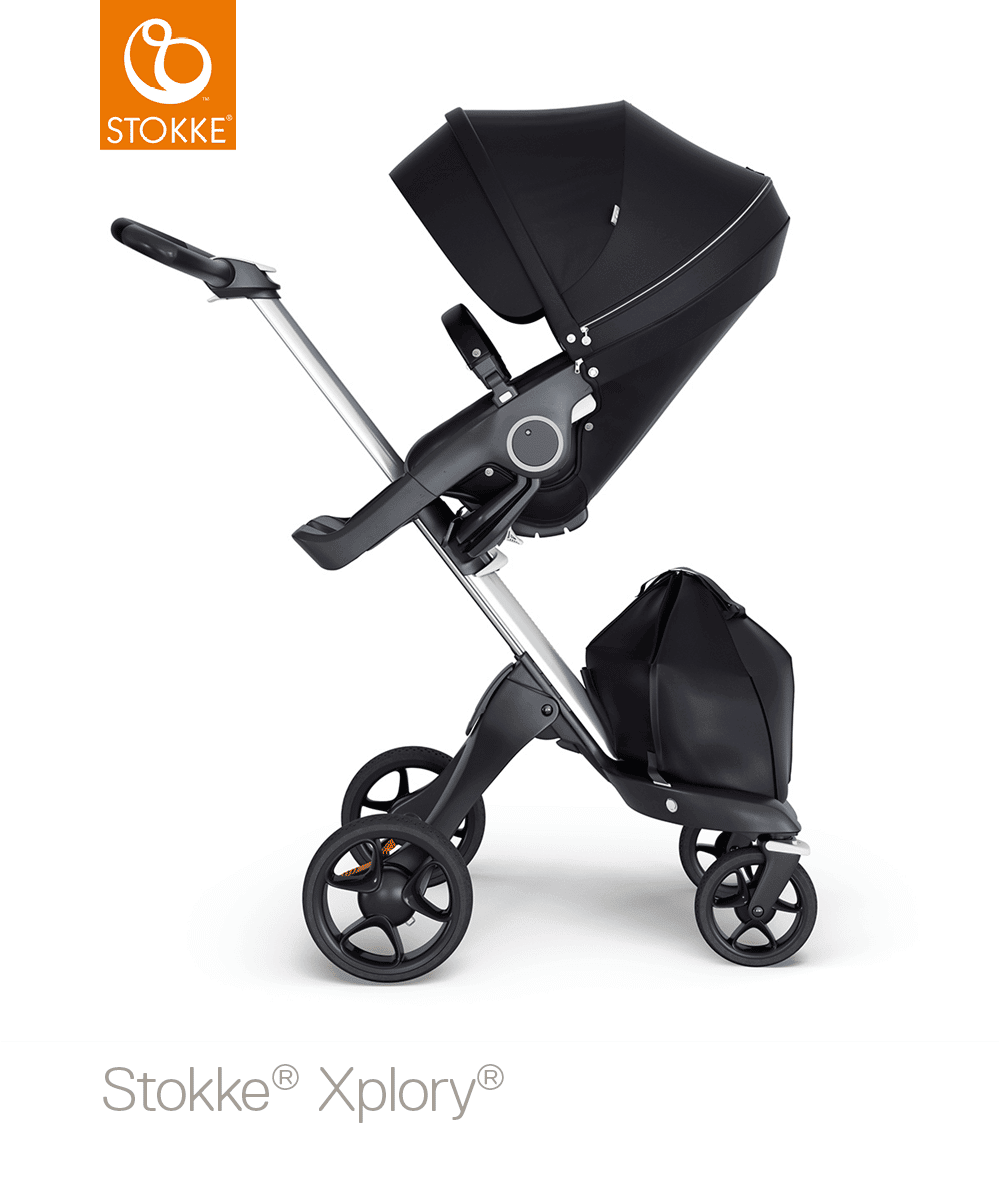 עגלת תינוק סטוקי אקספלורי V6 בצבע שחור