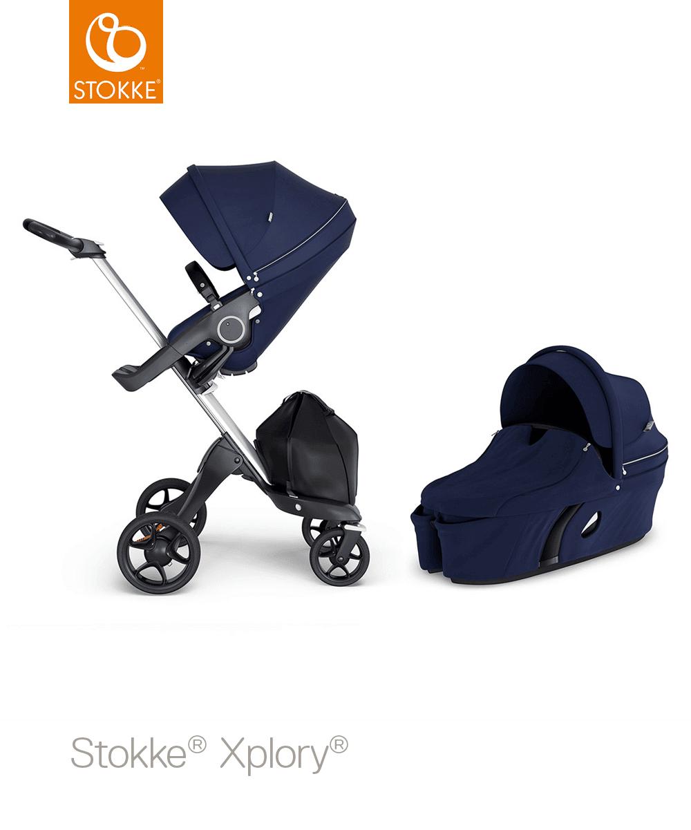 עגלת תינוק סטוקי אקספלורי V6 בצבע כחול