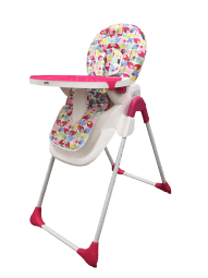 כיסא אוכל לתינוק קומפורטCOMFORT גאוביי GEOBY עלים ורוד