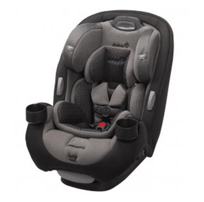 כיסא בטיחות לתינוק גרו אנד גו איירGrow And Go AIR מבית סייפטי Safety 1st שחור נקודות