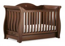 מיטת תינוק Sleigh Royal אלון מבית Boori