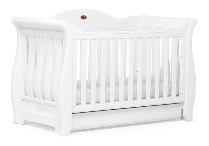 מיטת תינוק Sleigh Royal לבן מבית Boori