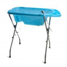 אמבטיה עם מעמד כחול אינפנטי