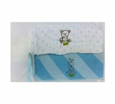 חיתול טטרה זוגי לתינוק בייבי מישל Baby Michel בצבע כחול