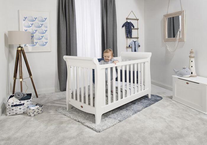 חדר תינוקות Sleigh Expandable לבן מבית Boori
