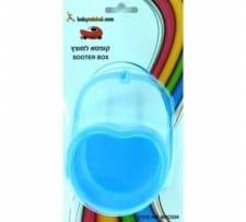 קופסה למוצץ בצורת לב בייבי מישל Baby Michel בצבע כחול