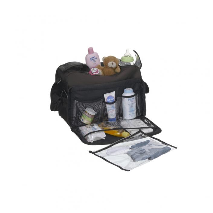 תיק החתלה מסנג'ר דלוקס שחור ריקו