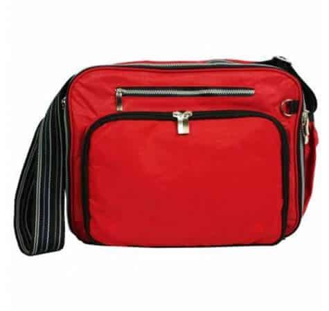 תיק החתלה דגם 0127 מבית בייבי מישל Baby Michel בצבע אדום