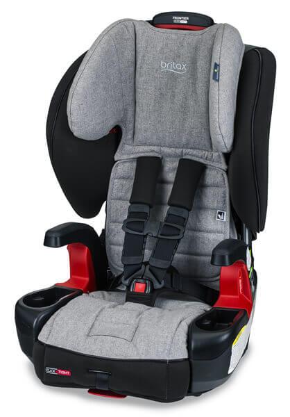 כיסא בטיחות משולב בוסטר פרונטיר קליקטייט Frontier C&T עם בד ננוטקס Nanotex מבית ברייטקס Britax