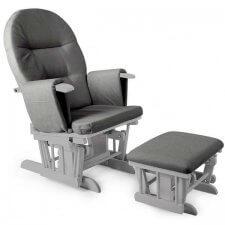 כורסת הנקה מפוארת קומפורט ריקליינר Comfort Recliner מבית בייבי סייף Baby Safe בצבע אפור עץ אפור