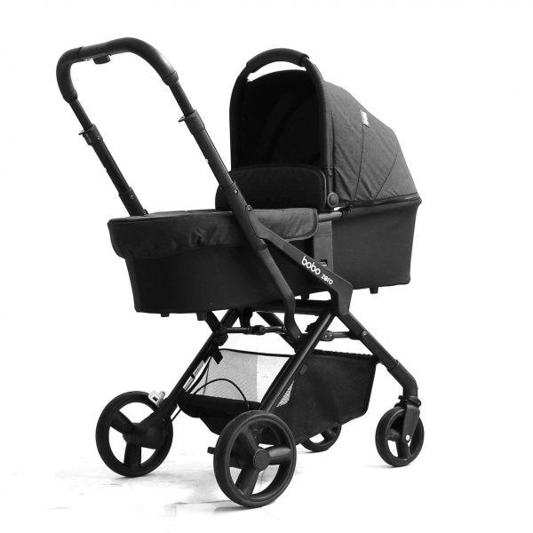 עגלת תינוק בובו זירוbobo zero מבית אונו Uno בצבע אפור מלאנג' כהה