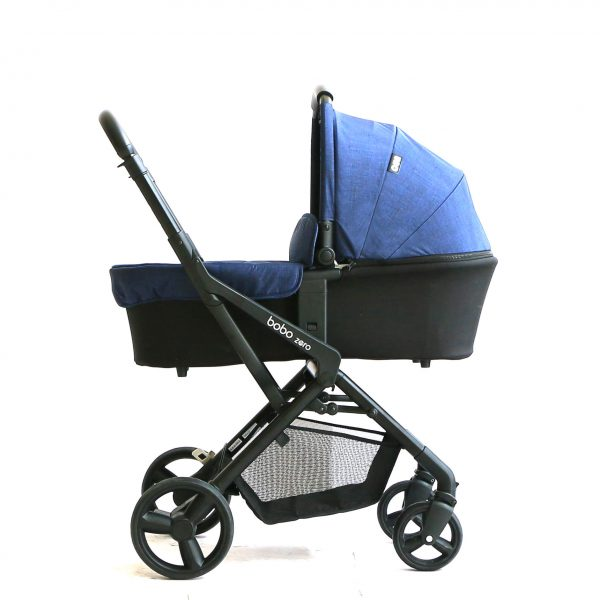 עגלת תינוק בובו זירוbobo zero מבית אונו Uno בצבע כחול ג'ינס