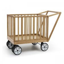 עגלול עץ קופי בייבי Coopy Baby מבית בייבי סייף Baby Safe בצבע טבעי