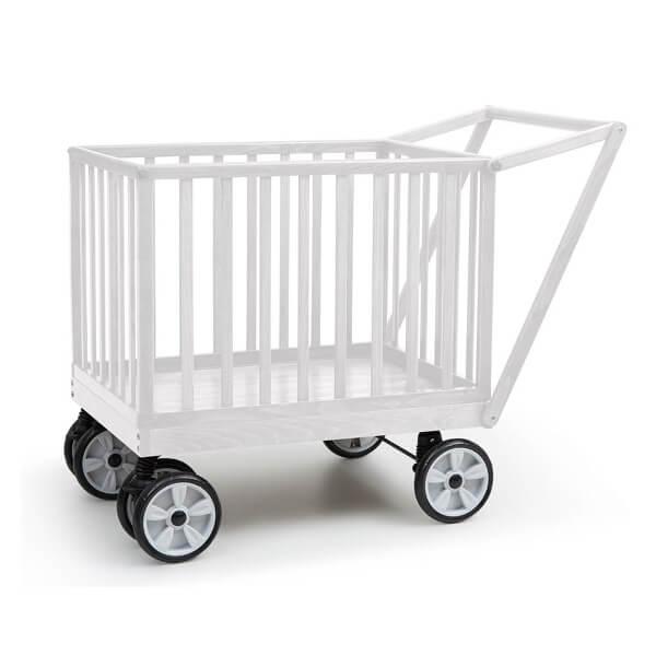 עגלול עץ קופי בייבי Coopy Baby מבית בייבי סייף Baby Safe בצבע לבן
