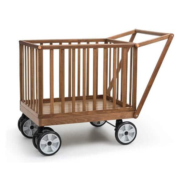 עגלול עץ קופי בייבי Coopy Baby מבית בייבי סייף Baby Safe בצבע אגוז