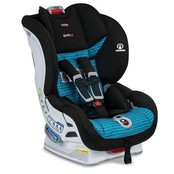 כיסא בטיחות לרכב מרתון Marathon קליק אנד טייט C&T מבית ברייטקסBritax בצבע טורקיז מנוקד