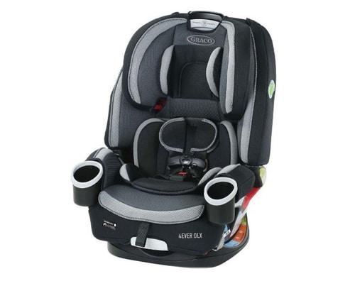 כסא בטיחות גרקו משולב מדגם 4Ever DLXאפור