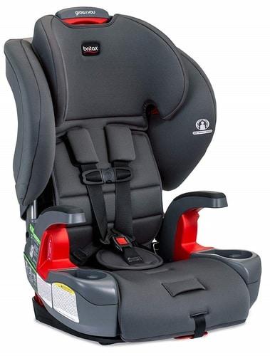כסא בטיחות משולב בוסטר Grow With You (לשעבר פיוניר) עם אבזם 'חגירה קלה'- צבע Pebblle ברייטקס BRITAX