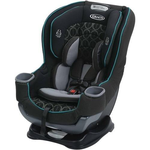כסא בטיחות גרקו עם מאריך רגלים אקסטנד טו פיט Extend2Fit בשחור עגולים VALORE גרקו